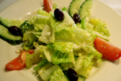 maykadeh, greek salad