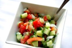maykadeh, shirazi salad