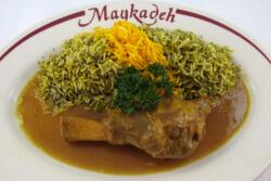 Maykadeh, baghali polo