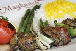maykadeh, shish kebab
